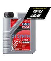 Garrafa de 1L óleo Liqui-Moly 100% sintético 2T