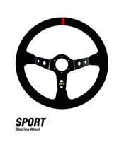 DRAGONFIRE Suede Sport Steering Wheel