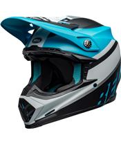 Casque BELL Moto-9 Mips Prophecy Matte White/Black/Blue