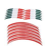 Liserés de jantes LIGHTECH rouge/drapeau Italien