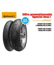 2 Hypersport Tire Pack CONTINENTAL ContiSportAttack (120/70 ZR 17 + 190/55 ZR 17)