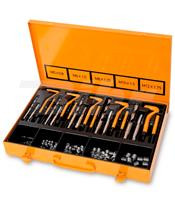 Kit para reparação de roscas danificadas M5-M6-M8-M10-M12 + Helicoils