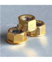 Porca de alumínio Pro-Bolt 10mm ouro LSPN10G
