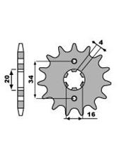 PBR Front Sprocket 12 Teeth Steel Standard 428 Pitch Type 263 Yamaha DT125LC