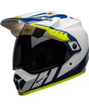Casque BELL MX-9 Adventure Mips Dash Gloss White/Blue/Hi-Viz