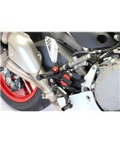 GILLES TOOLING VCR38GT Adjustable Rearset Black Ducati Panigale 959