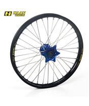 HAAN WHEELS Complete Front Wheel 16,50x3,50x36T Black Rim/Blue Hub/Silver Spokes/Silver Spoke Nuts