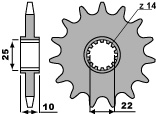 PBR Ritzel 13 Zähne Kette 520 TM 250-300-400-450