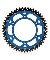 ART Kettenrad Dual 50 Zähne Aluminium/Stahl ultra-light Spritzschutz Teilung 520 Typ 897 blau
