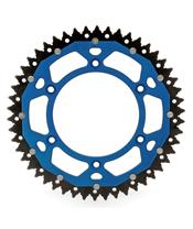 ART Dual-components Rear Sprockets 49 Teeth Ultra-light Self-cleaning Aluminum/Steel 520 Pitch Type 808 Blue