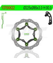 Disco de travão NG ondulado flutuante 1379XK22 Ø225 x Ø89 x 3
