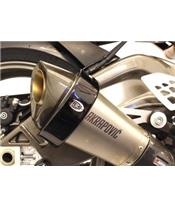 R&G RACING Exhaust Guard Black Akrapovic Hexagonal Muffler