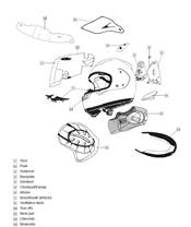 Spoiler ARAI Dual Flow Aluminium Silver casque intégral