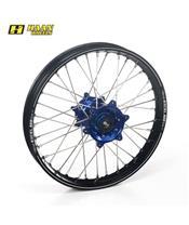 HAAN WHEELS A60 Complete Rear Wheel 19x2,15x36T Black Rim/Blue Hub/Black Spokes/Blue Spoke Nuts