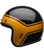 Capacete Bell Custom 500 DLX STREAK Preta/Dourada, Tamanho S