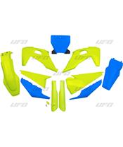 Kit plastiques UFO Edition Limitée bleu/jaune Husqvarna TC/FC