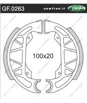 Machoires de frein NEWFREN GF0263 organique