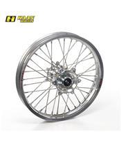 HAAN WHEELS Complete Rear Wheel 18x2,15x36T Silver Rim/Silver Hub/Silver Spokes/Silver Spoke Nuts