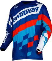 ANSWER Arkon Korza shirt reflex/hyper blue/red