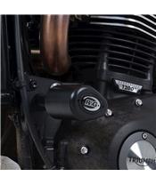 R&G RACING Aero Crash Protectors Black Triumph Scrambler 1200