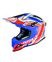 Casque JUST1 J12 Flame Red/Blue