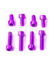 Kit tornilleria tapón depósito Pro-Bolt Suzuki Aluminio violeta TSUZP