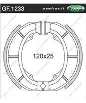 Machoires de frein NEWFREN GF1233 organique