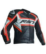Veste RST Tractech Evo R CE cuir rouge fluo taille