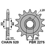 PBR Front Sprocket 14 Teeth Steel Standard 520 Pitch Type 2275 Sherco SE 2.5I-F