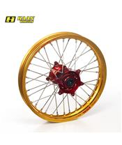 HAAN WHEELS Complete Rear Wheel 19x2,15x36T Gold Rim/Red Hub/Silver Spokes/Silver Spoke Nuts
