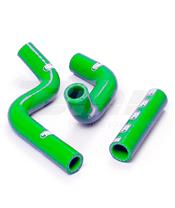 Kit tubos radiador Samco Kawasaki verde KAW-20-GN