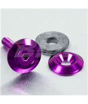 Arruela de alumínio escareada M6 violeta LWAC6-22P