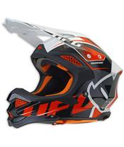 Casque UFO Diamond noir/blanc/rouge