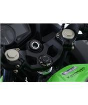 R&G RACING Steering Stem Nut Cap Black Kawasaki Ninja 400