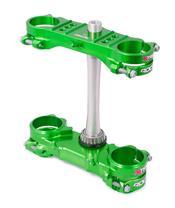 XTRIG Rocs Tech Triple Clamp Green Offset 23mm Kawasaki KXF