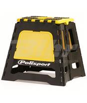 Bancada dobrável de plástico Polisport amarela