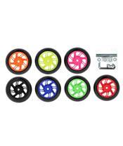 Set de dos ruedas negras para caballete paddock