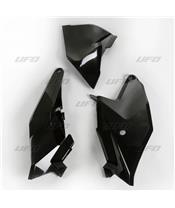 Plaques latérales + cache boîte à air UFO noir KTM SX85