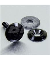 Arruela de alumínio escareada M5 (19mm ØExt.) preta LWAC5BK