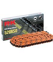Cadena RK FO520XSO con 124 eslabones naranja