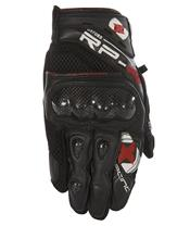 RP4  LEATHER/MESH SHORTGLOVE TECH BLACK