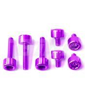 Kit tornilleria tapón depósito Pro-Bolt Honda Aluminio violeta THONP