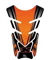 Protection de réservoir MOTOGRAFIX 4pcs noir/orange Kawasaki