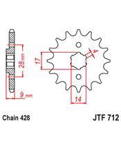 Piñon JT 712 acero 13 dientes