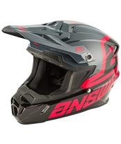 ANSWER AR1 Voyd Junior Helm Black/Charcoal/Pink Größe