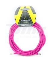 Invólucro cabo aço laminado Ø5 rosa 2 m