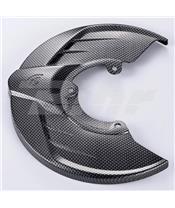 Protector disco delantero ART look carbono