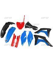 Kit plastiques UFO Edition Limitée rouge/bleu/noir Honda CRF250R