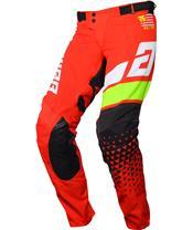 ANSWER Elite Korza Pants Red/White/Hyper Acid/Black Size 28