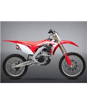Ligne complète YOSHIMURA RS-9E inox/silencieux double inox/casquette carbone Honda CRF250R